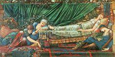 Scarlet Quince cross stitch chart: The Rose Bower - Edward Burne-Jones