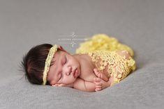 Yellow Tassels Lace Newborn Baby Wrap Layer | Beautiful Photo Props