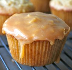 Caramel Apple Cupcakes by The Baker Mama
