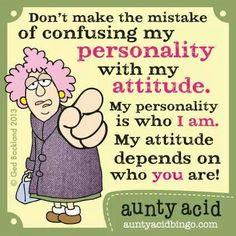 personality/attitude