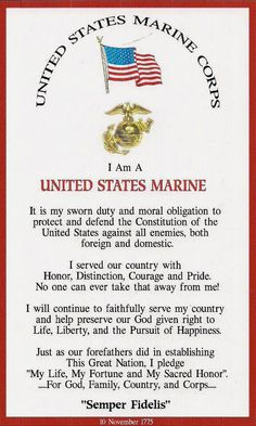 I am a United States Marine  ... well, I am not ... but, I love a ton of em' like brothers!  For All Marines!  God Bless! God Speed Bros!  Heroes All!