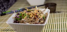 Cold Soba Noodles with Chicken and Veggies - Marijuana Recipes - Powered by @cannnabischeri