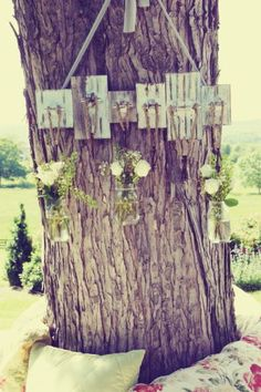 Hanging mason jars down the aisle!