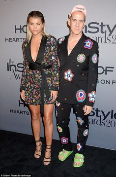 Designer date:Moschino's Jeremy Scott escorted Sofia Richie to the 2016 InStyle Awards in Los Angeles, California, on Monday night