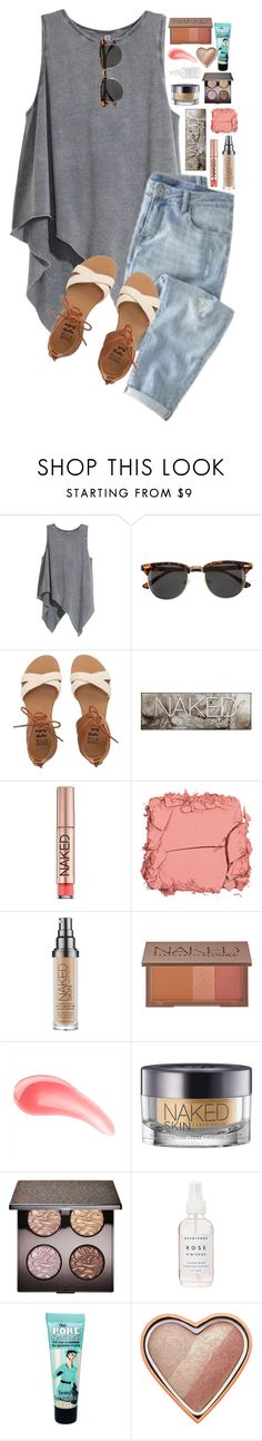 """Missing my poly fam"" by evedriggers ❤ liked on Polyvore featuring H&M, J.Crew, Billabong, Urban Decay, Illamasqua, Laura Mercier, Herbivore, Benefit and Too Faced Cosmetics"