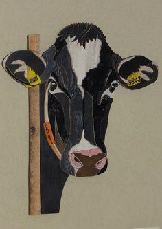roosje 9843 zwartbonte koe . Gemaakt van sloophout door Henri Wittenberg Markelo .