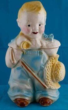 cookiejar.quenalbertini: Brush Pottery Little Boy Blue Cookie Jar | eBay