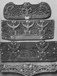 Carved Maori door Lintels II by John R Morris Polynesian People, Polynesian Designs, Maori Designs, Ancient Aliens, Ancient Art, Ancient History, Maori Symbols, Maori Patterns, Maori People