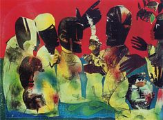 Romare Bearden, Carolina Shout (from Of The Blues series), 1974