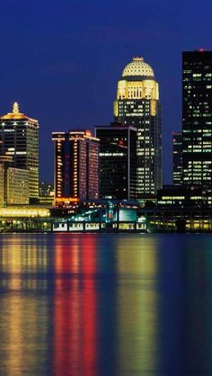 Skyline of Louisville ,Kentucky.  Go to www.YourTravelVideos.com or just click on photo for home videos and much more on sites like this.