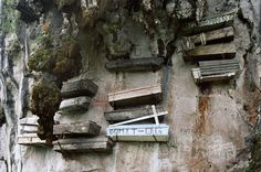 Mysterious Hanging Coffins of China. Wuyi Mountain, Fujian Province. Hanging coffins is an ancient funeral custom found only in Asia. Some coffins are cantilevered out on wooden stakes while some lay on rock projections. The Wuyi Mountain coffins are the oldest; some are more than 3,750 years old.This particular ancient ritual has continued to baffle archaeologists and academics.