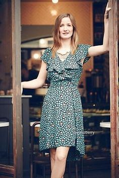 NEW Anthropologie HD in Paris Ruffled Wrap Dress  Size 2-6-10-14  $148