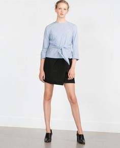 Image 1 of STRETCH POPLIN TOP from Zara