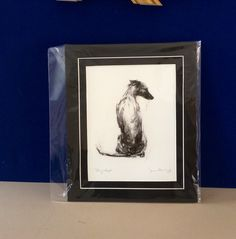 Sitting Whippet by Justine Osbourne