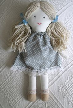 Traditional cloth rag doll by http://Mayflair.Etsy.com