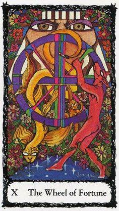 Wheel of Fortune - Sacred Rose Tarot