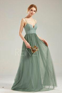 Sage Bridesmaid Dresses, Bohemian Bridesmaid, Green Wedding Dresses, Boho Wedding Dress, Lace Wedding, Bohemian Prom Dresses, Dream Wedding, Sage Green Dress, Green Lace
