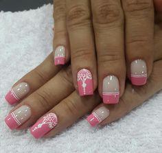 French Tip Nails, Nail Art Designs, Hair Beauty, Mesh, Make Up, Chic Nails, Nail Designs, Nice Nails, Sour Cream
