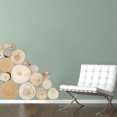 wall decal - Split Logs
