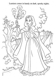 Beauty and the Beast, Coloring Pages