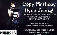 awesome Henecia Sri Lanka – Happy Birthday Messages and Wishes to Hyun Joong