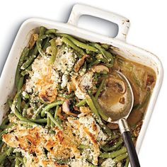 Green Bean Casserole with Madeira Mushrooms - adding a little something extra to the classic