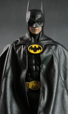 1989 Batman Michael Keaton action figure - Batman Canvas Art - Trending Batman Canvas Art - 1989 Batman Michael Keaton action figure by Hot Toys Batman Dark, I Am Batman, Batman The Dark Knight, Batman Robin, Gotham Batman, Comic Movies, Comic Book Characters, Michael Keaton Batman, Batman Painting