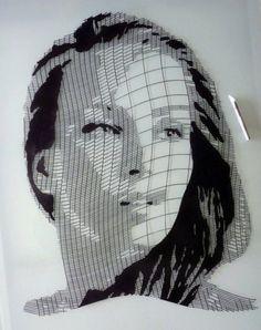 Kris Trappeniers hand cut portrait (2012)
