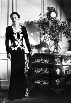 Wallis Simpson, The Duchess of Windsor - 1937 - Dress and Jacket by Elsa Schiaparelli (Italian, 1890-1973) - Photo by Sir Cecil Beaton (English, 1904-1980).