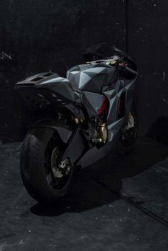 Ducati Desmosedici RR in Black Polygon Origami Camo - Ducati Scrambler Forum Ducati Motogp, Moto Ducati, Ducati Motorcycles, Custom Motorcycles, Ducati Scrambler, Motorcycle Design, Bike Design, Motorcycle Art, Ducati Desmosedici Rr