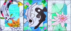 sea creatures watercolor painting, focusing on asymmetrical composition and going beyond the border 8th Grade Painting, 7th Grade Art, Composition Art, Middle School Art, Art Lesson Plans, Fish Art, Art Classroom, Art Plastique, Elementary Art