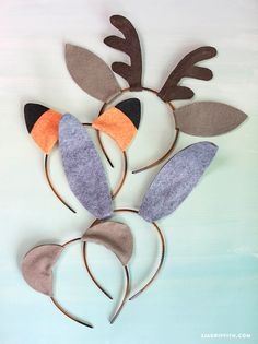 DIY Woodland Friends Ears Halloween or Party Costumes from MichaelsMakers Lia Griffith
