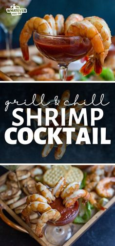 Shrimp cocktail gets a makeover on this easy, savory, grill and chill shrimp cocktail recipe!