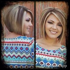 nice Bob Haircuts with Highlights! Images and Video Tutorial!