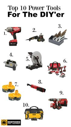 Need a gift for the DIY'er? Look no further. These are the Top 10 Power Tools every DIY'er needs in their arsenal