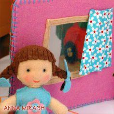 Анна Мираш - развивающие игрушки, пальчиковый театр из фетра, мастерклассы