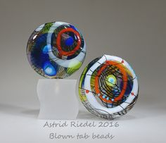 Astrid Riedel Glass Artist Blown Beads, pure pleasure :) (Posted: 07 Sep 2016) Tab Beads♥•♥•♥