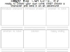 1000 images about third grade on pinterest test prep for Make your own comic strip template