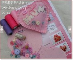 FREE pattern Mother's day Felt Heart GIFT – Felting