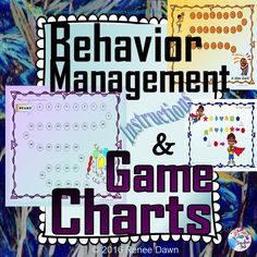 Behavior management game charts are a good way to modify a child's behavior.   Classic behavior mod really works.  This pack includes instructions on how to use behavior management charts, behavior rules, printable awards, suggestions for prizes, and a letter to the parent to help support their child.  Works for whole-class behavior, too.