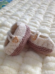 Coffee and Cream Baby's Shoes, Booties - Made to Order £15.00