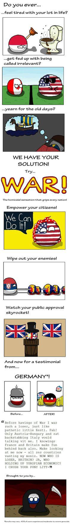 War, war never gets boring!