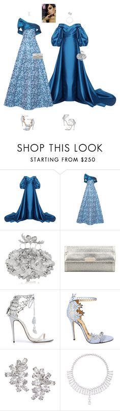"""""""Caecilia & Danette #9707"""" by canlui ❤ liked on Polyvore featuring Mark Bumgarner, Alexander McQueen, Jimmy Choo, Marchesa, Fallon and Anita Ko"""