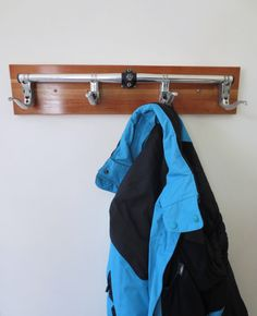 Handcrafted Coat Rack Bicycle Accessories by Winterwomandesigns