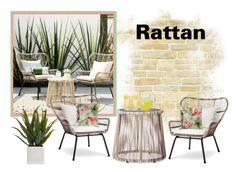 """Rattan"" by sjlew ❤ liked on Polyvore featuring interior, interiors, interior design, home, home decor, interior decorating, Latigo and Alöe"
