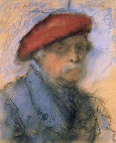 József Rippl-Rónai, Last Self-portrait 1927 Pastel on cardboard, 49 x 40 cm Hungarian National Gallery, Budapest