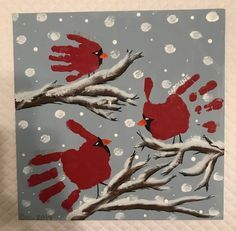 Kids Crafts, Winter Crafts For Toddlers, Mothers Day Crafts For Kids, Diy Mothers Day Gifts, Christmas Crafts For Kids, Baby Crafts, Decor Crafts, Snow Globe Crafts, Kids Canvas