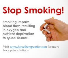 Quit Smoking helps prevent from Lower Back Pain Quit Smoking Motivation, Help Quit Smoking, Neck And Back Pain, Low Back Pain, Stop Smoke, Electronic Cigarette, Drugs, Cancer, Wellness