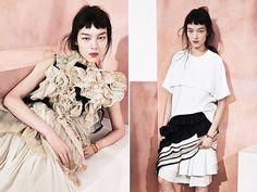 This Modern Romance Vogue China May 2014 Baby Bangs, Short Bangs, Vogue China, Modern Romance, Asian Beauty, Editorial Fashion, Watercolour, Fashion Models, Fashion Photography