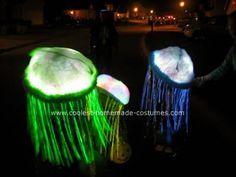Homemade Glowing Jellyfish Costumes